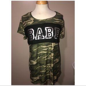 Camo babe short sleeve shirt